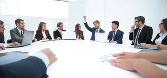 会议圆桌的商务伙伴 库存图片