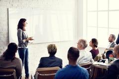 会议学会教练的企业概念的训练计划 库存照片