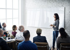 会议学会教练的企业概念的训练计划 免版税图库摄影