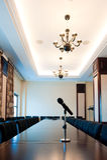 会议室在一家现代旅馆里 图库摄影