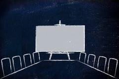 会议室或证券交易经纪人行情室设计 免版税库存照片