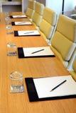 会议室特写镜头 免版税库存照片