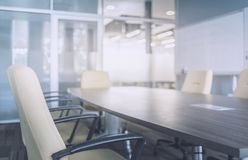 会议室现代内部  免版税库存图片