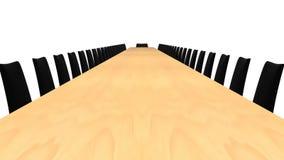 会议室表 库存例证
