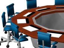 会议室透视图 库存图片