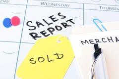 会议报表销售额 免版税库存图片