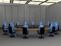 会议时候办公室空间 皇族释放例证