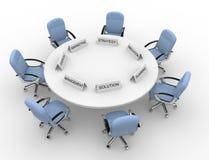 会议桌 免版税库存照片