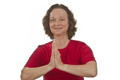 会议瑜伽 免版税库存照片