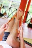 会议瑜伽 免版税库存图片