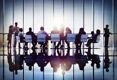 会议研讨会会议企业合作队概念 库存图片