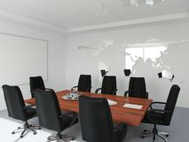 会议空的空间 免版税库存照片
