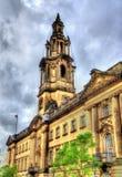 会议议院,一座法院大楼在普雷斯顿,兰开夏郡 免版税库存照片