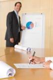 会议附注采取 免版税图库摄影