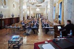 会议财产管理Particpants 2012年 库存照片