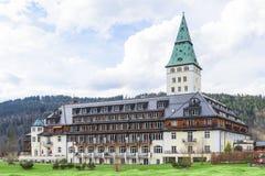 会议G8在Schloss Elmau的夏天将举行2015年 免版税库存照片