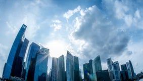 会集在新加坡的云彩 免版税库存图片