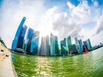 会集在新加坡的云彩 免版税库存照片