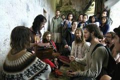会集在Palenque的彩虹 免版税库存照片