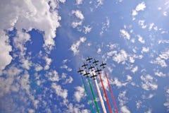 会集意大利国民的空军xix 库存图片