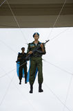 伞兵天庆祝在高尔基公园 免版税库存图片