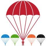 伞兵降伞跳伞运动员象集合 免版税库存图片