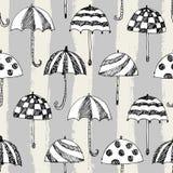 伞剪影样式条纹 向量例证