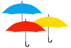 伞剪影 皇族释放例证