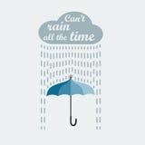 伞和雨 免版税库存图片