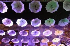 伞天空 免版税图库摄影