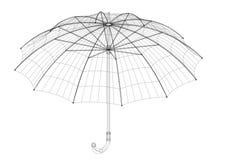 伞建筑师图纸,被隔绝 库存照片