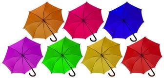 伞开放五颜六色 免版税库存照片
