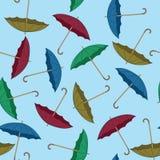 伞无缝的背景 图库摄影