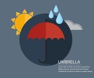 伞有季节标志背景 向量例证