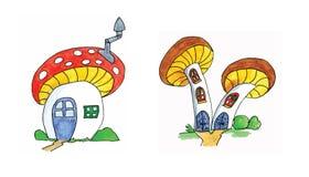 伞菌房子 免版税图库摄影