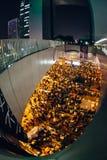 伞革命在香港2014年 图库摄影