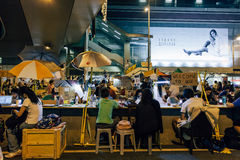 伞革命在香港2014年 库存图片