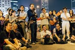 伞革命在香港2014年 免版税库存照片