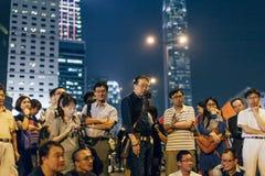 伞革命在香港2014年 免版税图库摄影