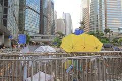 伞革命香港10月1日2014年 库存照片