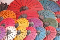 伞,老挝,亚洲 免版税图库摄影