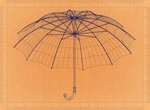 伞-减速火箭的图纸 图库摄影