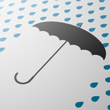 伞 背景明亮的例证桔子股票 免版税库存照片