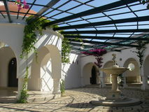 伟大圆形建筑在Kalithea温泉 库存照片
