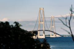 伟大的传送带桥梁在丹麦 库存图片