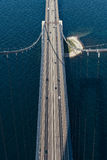 伟大的传送带桥梁在丹麦 图库摄影