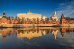 伟大的克里姆林宫宫殿在莫斯科 免版税库存图片