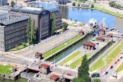 伟大的公园锁在鹿特丹,荷兰 免版税图库摄影
