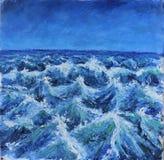 伟大的发怒的波浪,风暴 库存图片