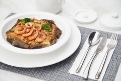 伟大的口味海鲜炒饭16 免版税库存图片